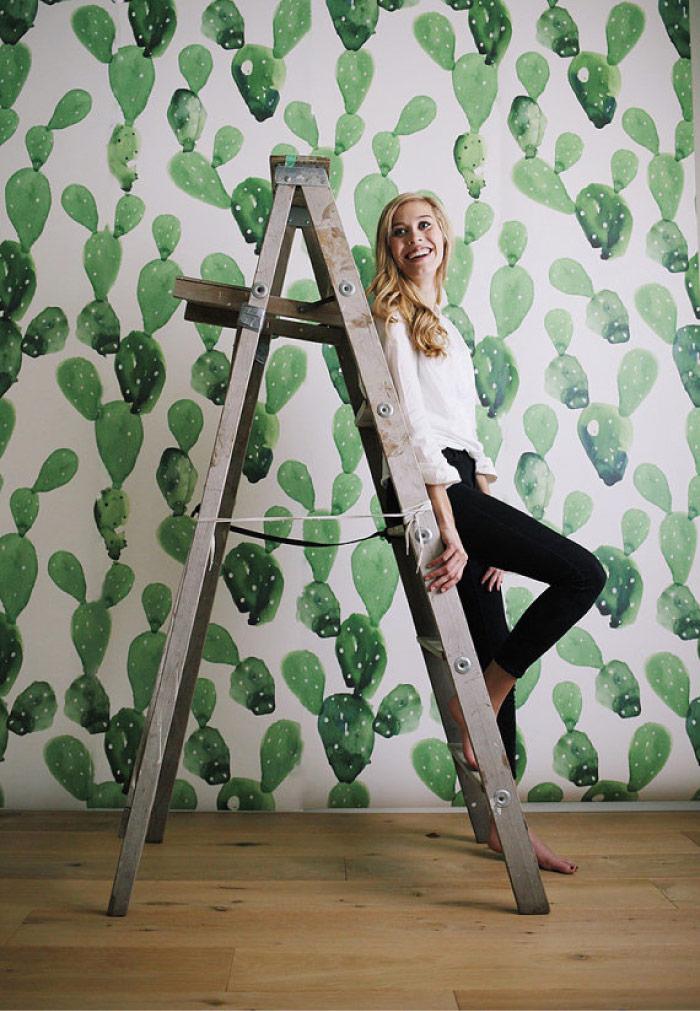 Carta Da Parati Acquerello Cactus By Anewall Blog Di