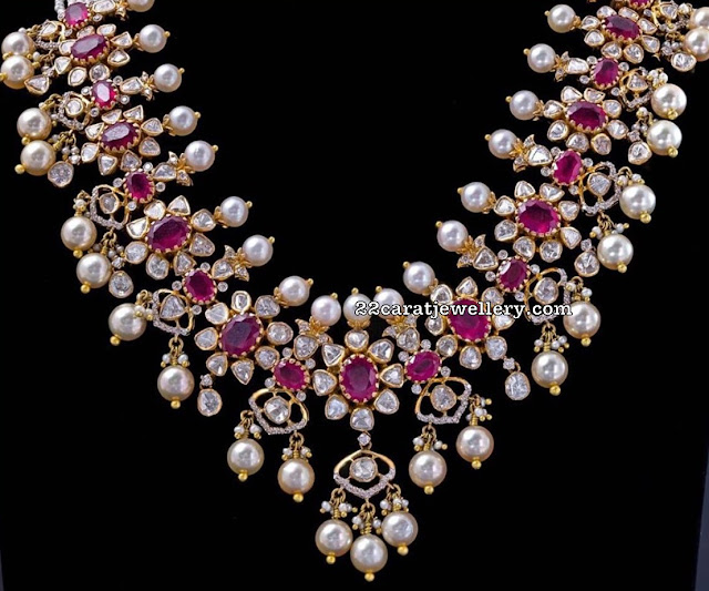 Floral Diamond Choker by Krishna