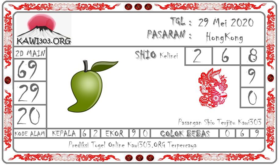 Prediksi HK Malam Ini 29 Mei 2020 - Kawi303