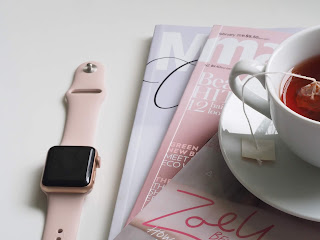 apple watch and magazines and tea