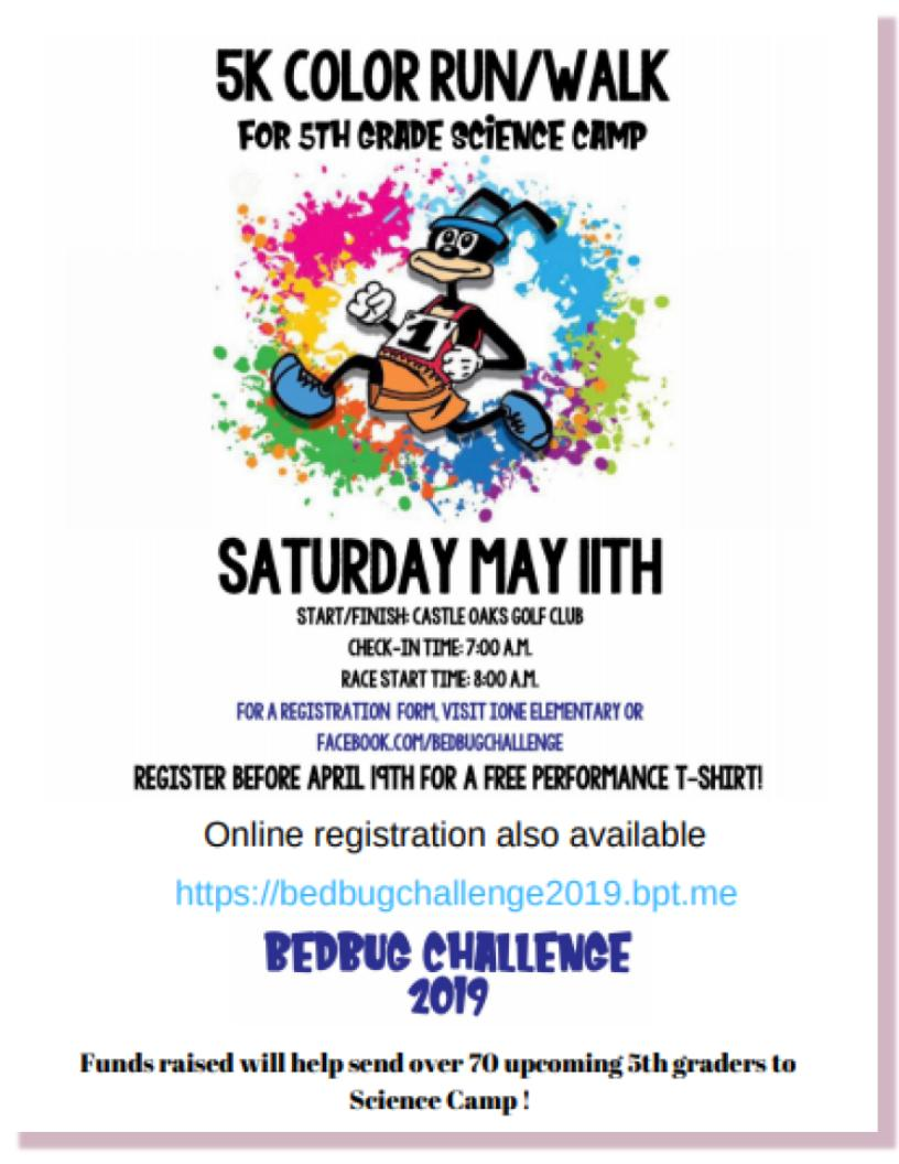 Bedbug Challenge 5K Color Run - Sat May 11