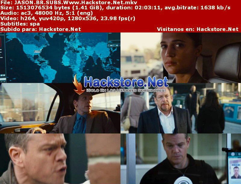 Capturas de Jason Bourne (2016) Blu-Ray RIP HD Subtitulada