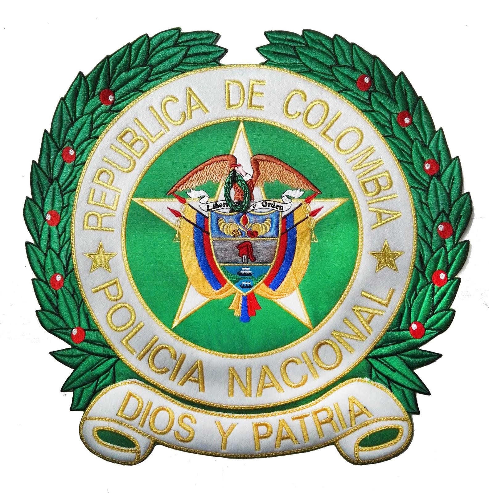 Escudo Heraldica Policia Nacional Diseno Bordado Ponchado Patron Su Historia