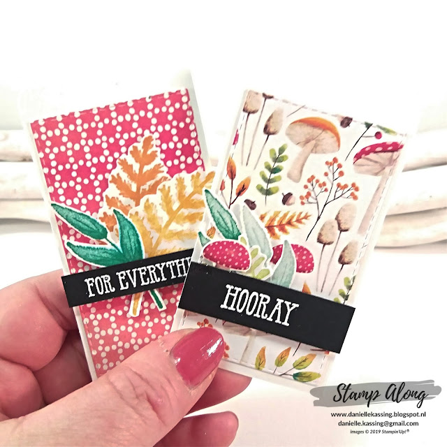 Stampin' Up! Painted Seasons bundle, labels, bloghop Creatieve Harten