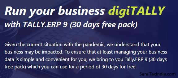 Tally.ERP 9 30 Days Free Pack