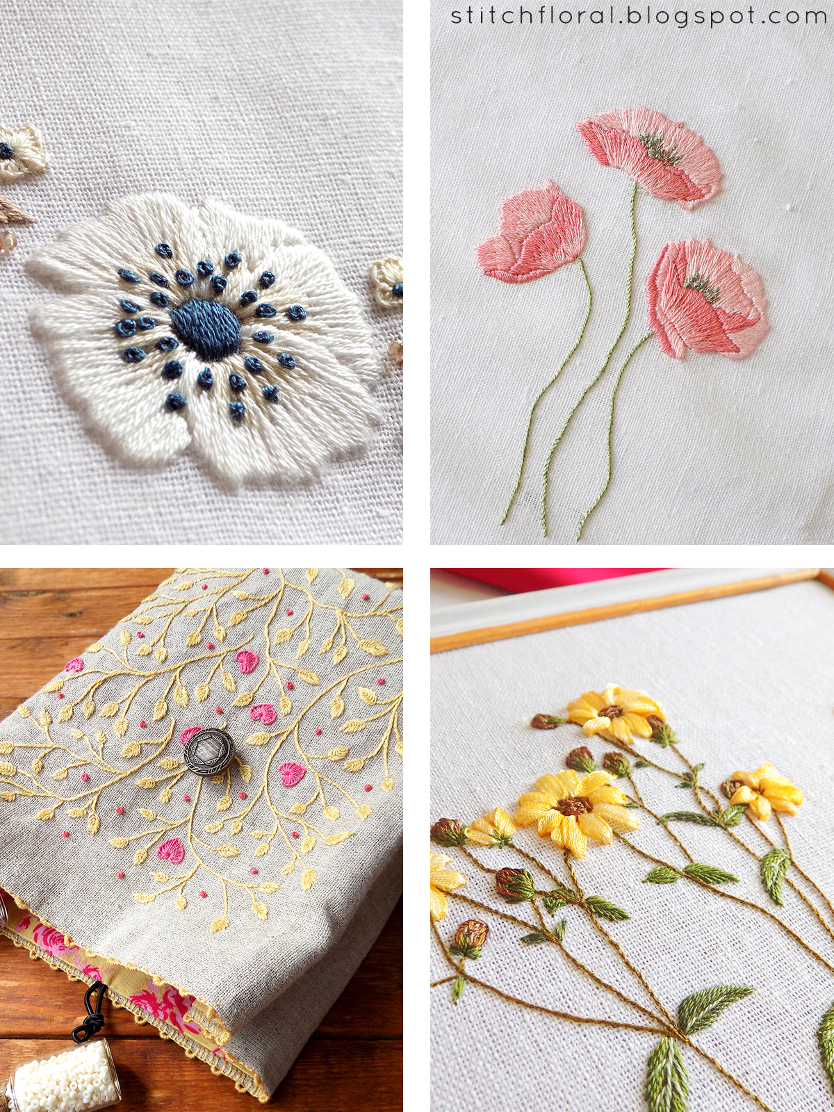 April embroidered projects