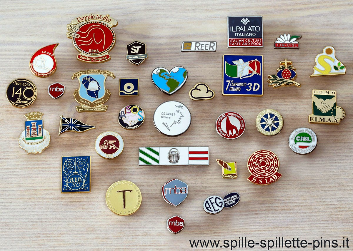 Spille, distintivi, pins e spillette personalizzate. http://www.spille-spillette-pins.it