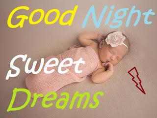good night sweet dreams cute baby images