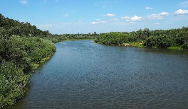 Река Иня (вид с моста возле о.п. Паровозный)