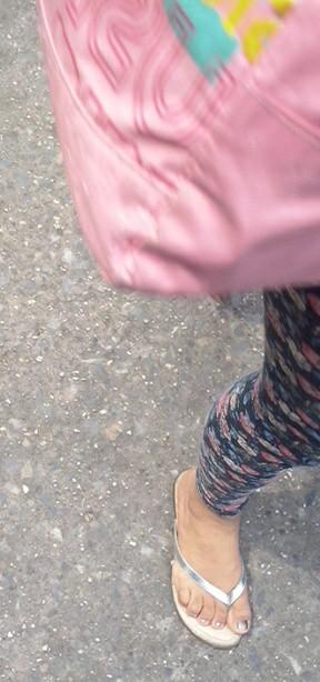 Feet i silver sandals mules heels pies sexys en tacones - 3 5
