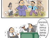 """Komik Strip """"Koruptor"""" Karya Boedy HP"""