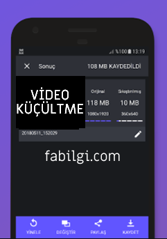 Android Video Boyutu Küçültme Sıkıştırma Uygulaması İndir