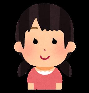 おさげ髪のイラスト(おさげ2本)