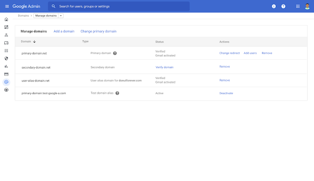 New streamlined experience for managing users and domains in the Admin console 6