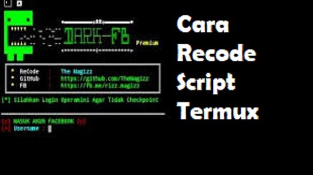 Cara Recode Script Termux
