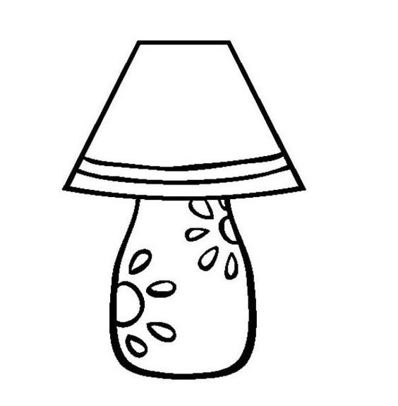 Tranh tô màu cái đèn ngủ