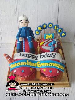 Cupcake Untuk Suami Tema Bangunan Arsitek