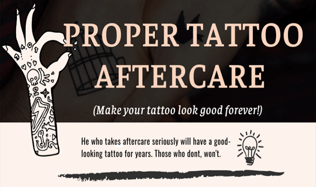 Proper Tattoo Aftercare: Make Your Tattoo Look Good Forever!
