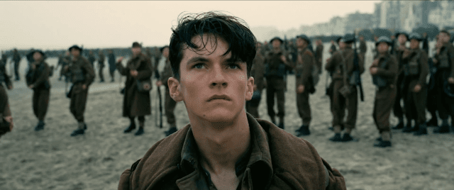 Fionn Whitehead plays one of the many frightened, sympathetic faces