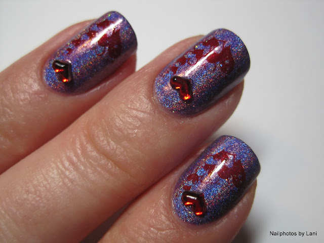 Nailphotos By Lani Valentine S Day Nails Purple Holo