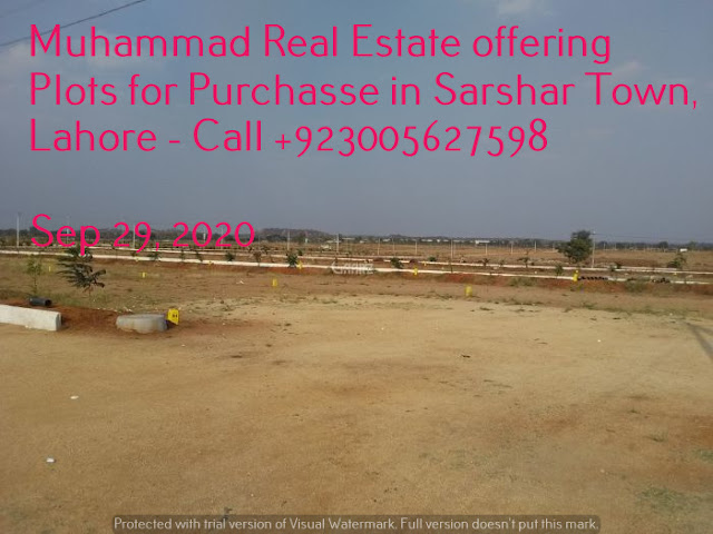 Muhammad Real Estate offering Plots for Purchase in Sarshar Town