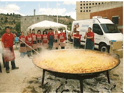Parrillas, catering, Cretas, Queretes, paella