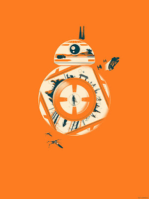 "New York Comic Con 2016 Exclusive Star Wars The Force Awakens BB-8 ""Journey"" Screen Print by Matt Ferguson x Bottleneck Gallery"