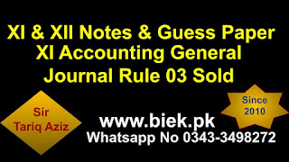 Accounting General Journal Rule 03 Sold