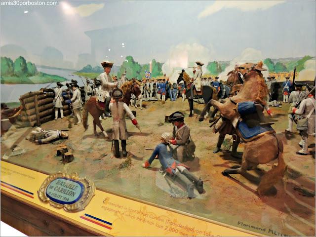 Maqueta de la Batalla de Fort Carillon en el Museo de la Ciudadela