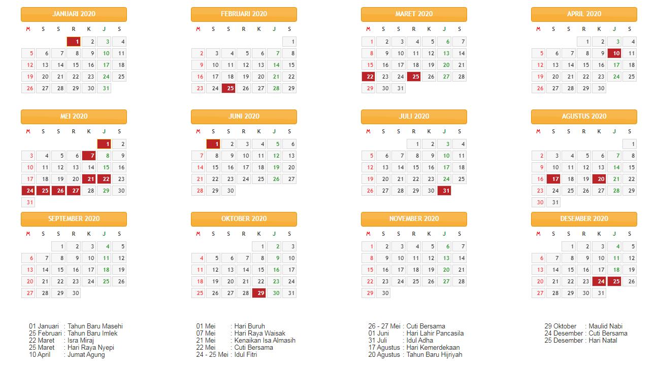 Kalender Indonesia 2021 Lengkap