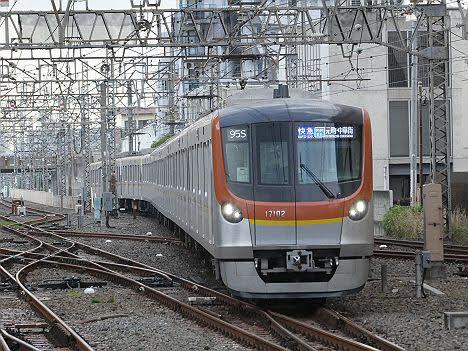 【初運用!】東武東上線 青い快速急行 元町・中華街行き メトロ17000系