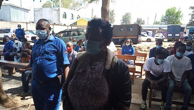 Cynthia Chiyumba charged before Kibera senior principal magistrate Charles Mwaniki photo