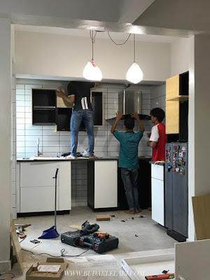 Kat Atas Ni Antara Gambar Masa Kontraktor Panel Ikea Pasang Kabinet Dapur Sehari Je Dorang Semua Tu Dari Pagi Sampai Petang