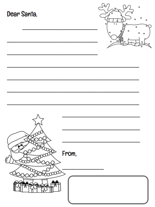 Christmas Countdown Calendar and Santa Letter. You can grab both of these printables for free! I use them every year with my first graders. #christmas #christmasprintables #christmasforkids #gradeonederful #christmascountdown #santaletter