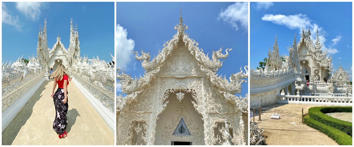 Wat Rong Khun Templo Brtanco de Chiang Rai na Tailândia