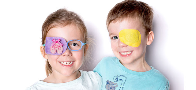 kids with amblyopia and patching done