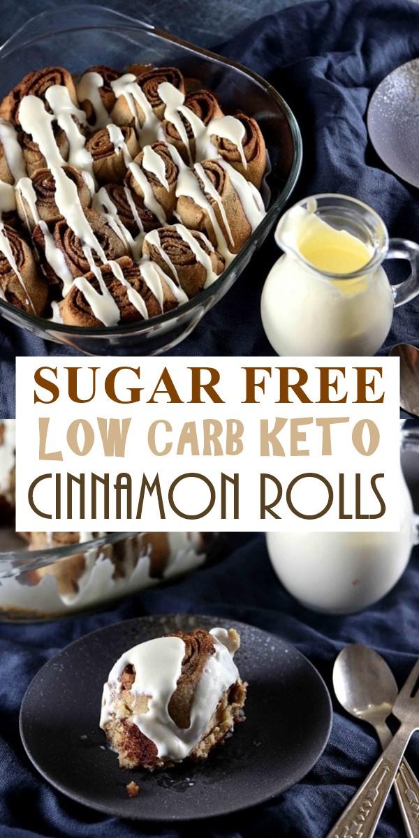 SUGAR FREE LOW CARB KETO CINNAMON ROLLS #Dessertrecipes