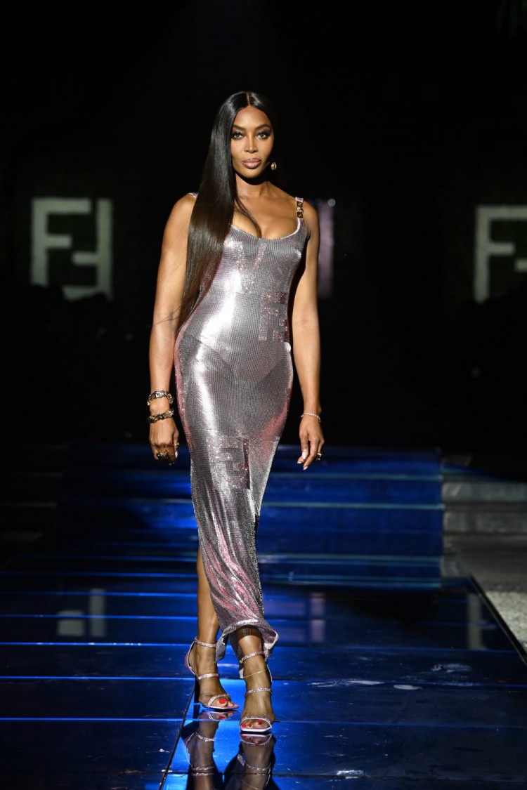 Naomi Campbell rules the runway at Versace special event