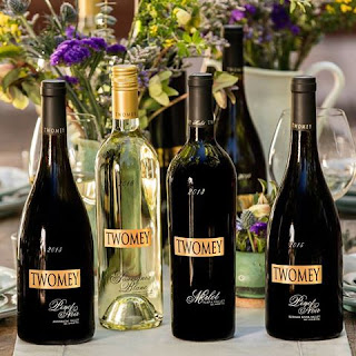 The wine selections of Twomey in Sonoma County