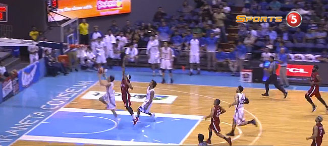 Calvin 'The Beast' Abueva with the Chasedown Block on Kevin Alas (VIDEO)