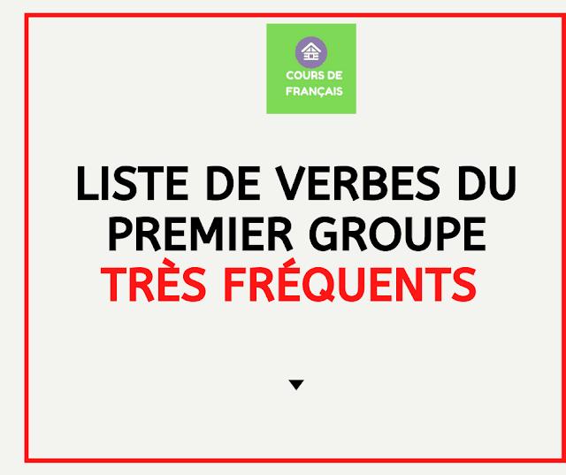Liste de verbes du premier groupe très fréquents