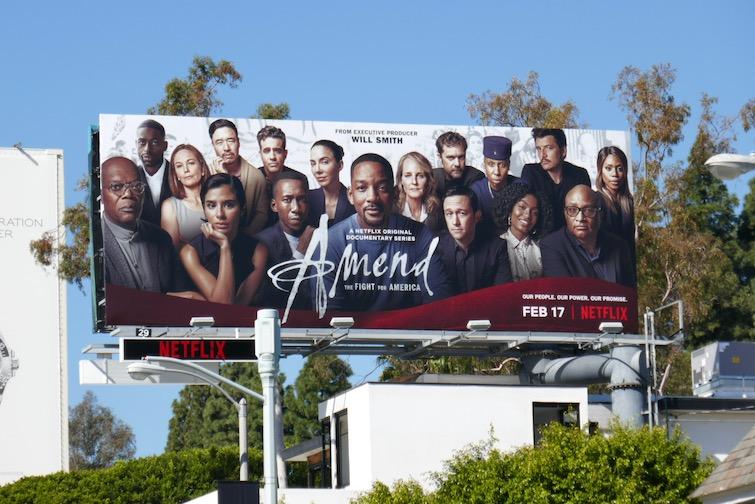 Amend Fight for America series billboard