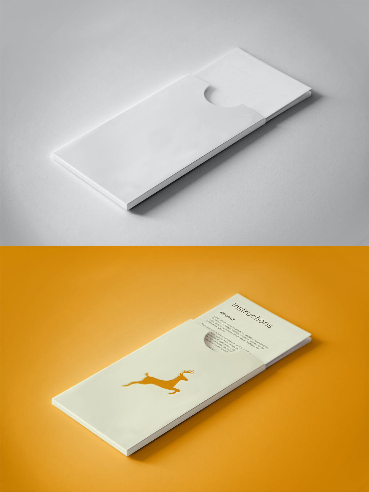 Paper Instructions PSD Mock up Free