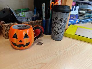 Hogwarts Travel Mug and my Pumpkin Mug too!