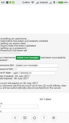 Akun SSH Premium SGDO 1
