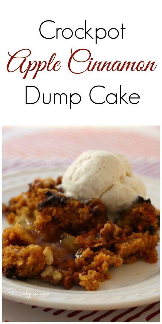 Crock Pot Apple Cinnamon Dump Cake