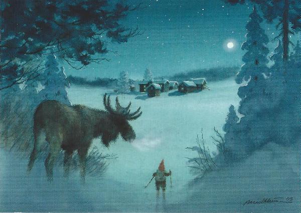 Writing my way around the globe my favorite finnish christmas cards artwork by kjell e midthun m4hsunfo