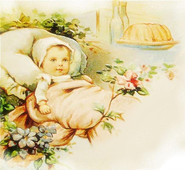 Image ancienne vintage bébé