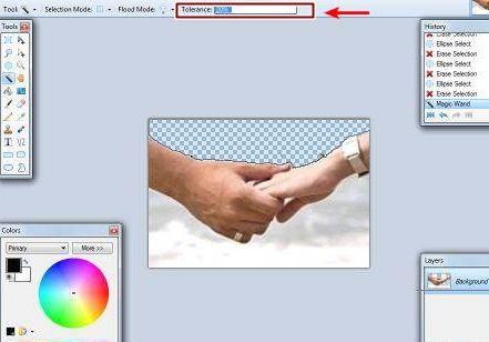 cara bikin background gambar transparan