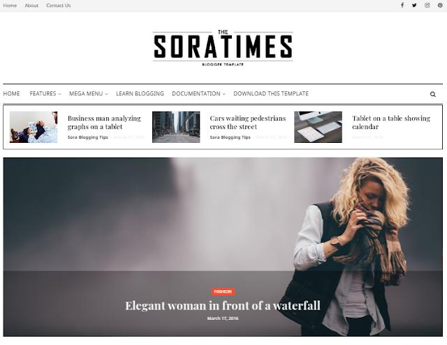 Free blogger news template